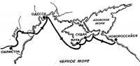 Схема плавания по Черному морю