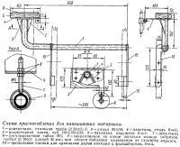 Схема приспособления для навешивания моторчика