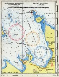 Схема расположения гоночных дистанций в таллинском заливе