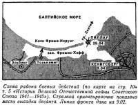 Схема района боевых действий