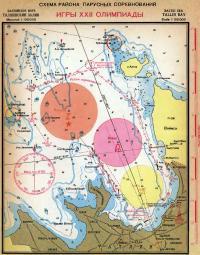 Схема района парусных соревнований