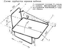 Схема трубчатого каркаса сиденья