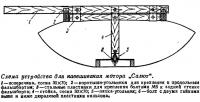 Схема устройства для навешивания мотора «Салют»