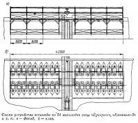 Схема устройства эстакады на 54 мотолодки