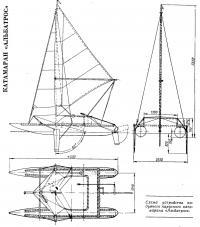 Схема устройства надувного парусного катамарана «Альбатрос»