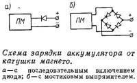 Схема зарядки аккумулятора от катушки магнето