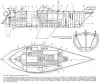 Схемы общего расположения яхты