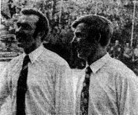 Советский экипаж швертбота «470» братья Виктор (слева) и Александр Потаповы