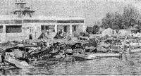 Спортивный лагерь у здания Днестровского яхт-клуба