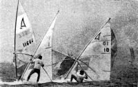 Спортсмены-виндсерфингисты на чемпионате