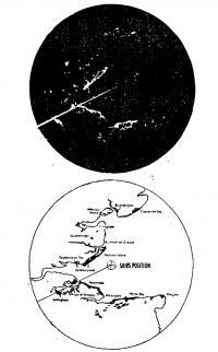 Сравнение радиолокационного изображения с навигационной картой устья р. Темзы