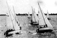 Старт яхт третьей группы в Ленинграде