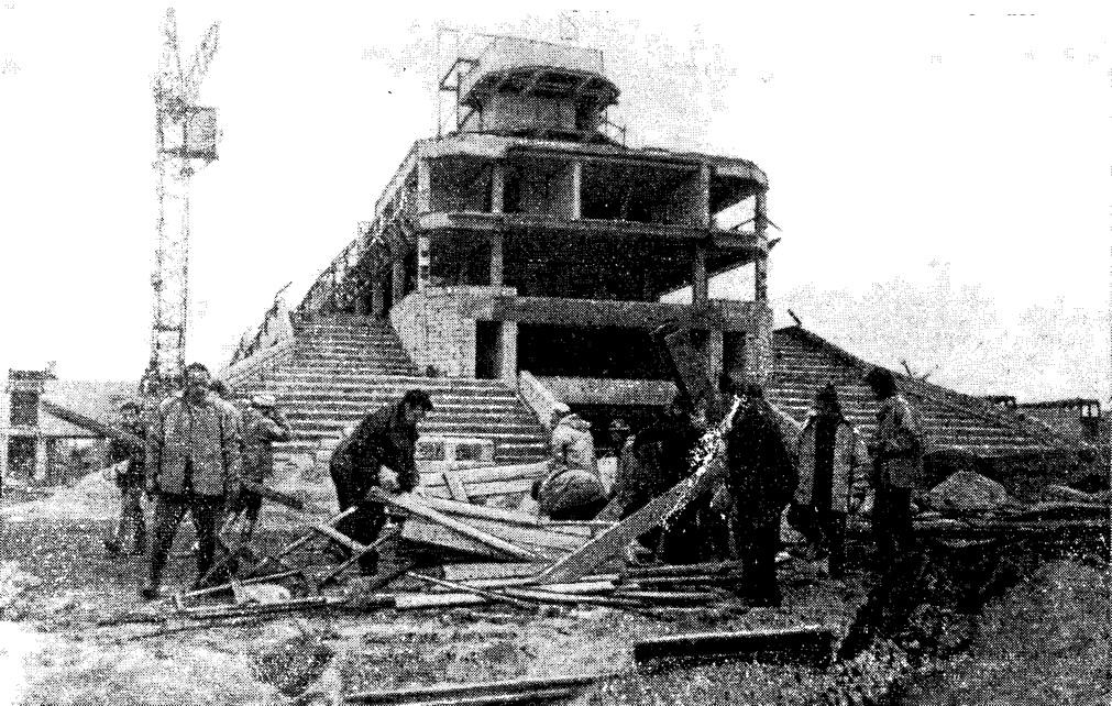 Субботник на строительстве Парусного центра Олимпийской регаты-80
