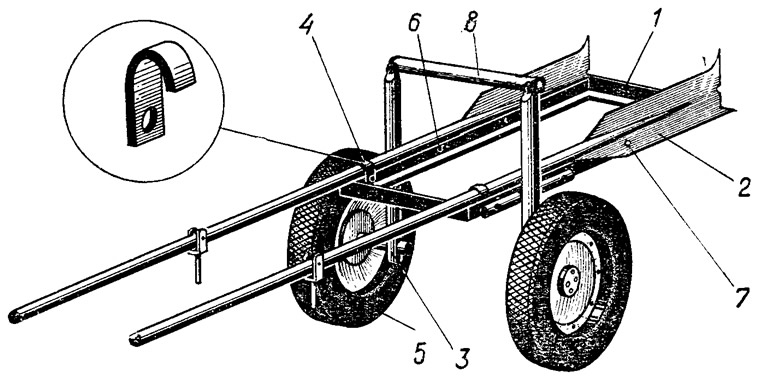 Тележка для мотора своими руками чертежи 62