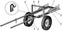 Тележка для канистр и мотора