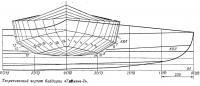 Теоретический чертеж байдарки «Таймень-2»