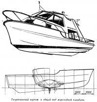 Теоретический чертеж и общий вид мореходной плавдачи