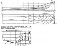 Теоретический чертеж катера-тримарана типа«С-54»