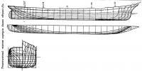 Теоретический чертеж корпуса барка «Франс-II»