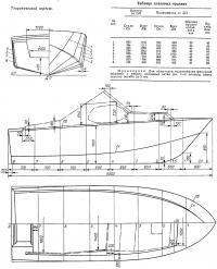 Теоретический чертеж мотолодки «Флора-2»