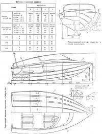 Теоретический чертеж, общий вид и схема планировки