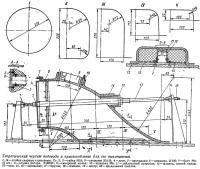 Теоретический чертеж водовода и приспособление для его выклеивания