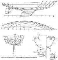 Теоретический чертеж яхты «Таврия» и конструктивный мидель-шпангоут