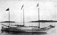 «Тиликум» на рейде перед выходом в плавание. Фото 1901 года