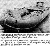 Типичная надувная двухместная мотолодка О-образной формы