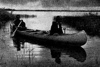 Типичное современное каноэ из легкого сплава