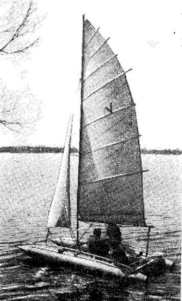 Трехместный парусный катамаран конструкции О. Чудинина