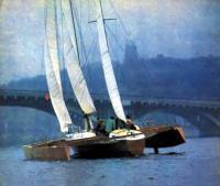Тримаран «Байда» в повороте