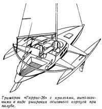 Тримаран «Гаррис-26» с крыльями