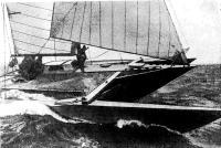 Тримаран на дистанции
