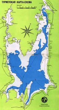 Туристическая карта Рыбинского водохранилища