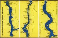 Туристская карта-схема Волги от Октябрьска до Нижней Добринки