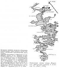 Туристская схема озера Кереть
