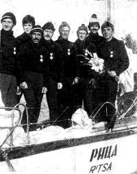 Участники Операции Парус-78 — экипаж яхты «Рица»