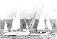 Участники регаты на дистанции
