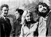 Участники рейса «Генерала Зарусского» в Ленинград с капитаном Павловским (второй слева)