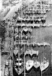 Участвующие в ОСТАР-80 суда накануне старта из Плимута