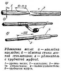 Удлинение весла