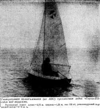 Универсальная полиэтиленовая трехместная лодка «Терхи-375-сэйл»