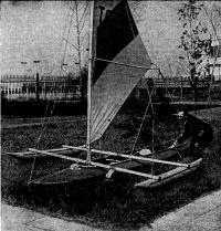 Универсальный комплект вооружения для превращения серийных байдарок в парусный тримаран