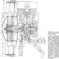 Устройство двигателя и привода воздушного винта