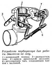 Устройство карбюратора для работы двигателя на газу