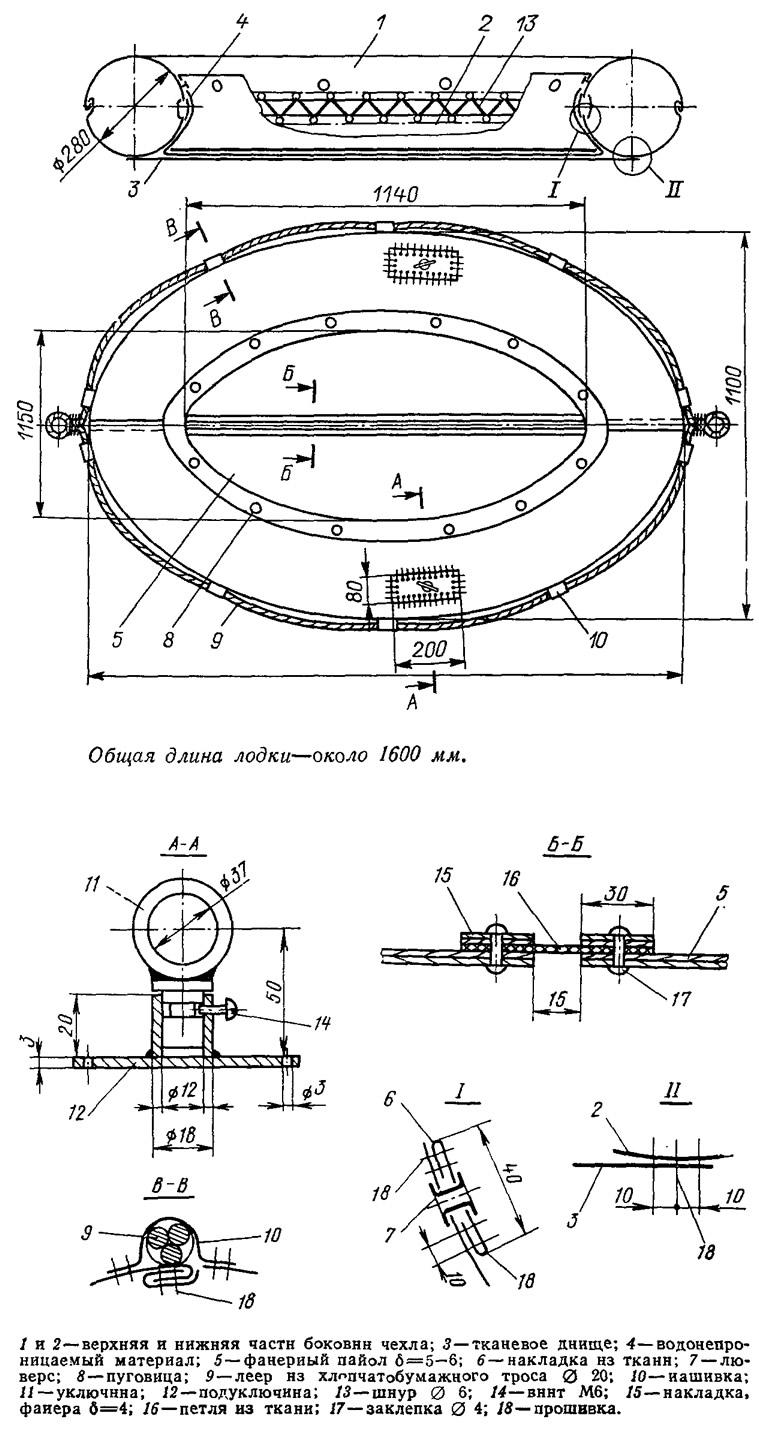 чертежи транцевых колес ради надувных лодок