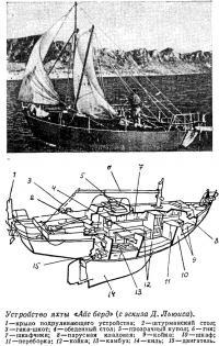 Устройство яхты «Айс берд» (с эскиза Д. Льюиса)