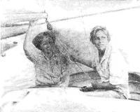 Вахта на «Синильге»: Л. Литвинова (слева) и О. Кожевникова