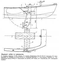 Вариант лодки со шверцами